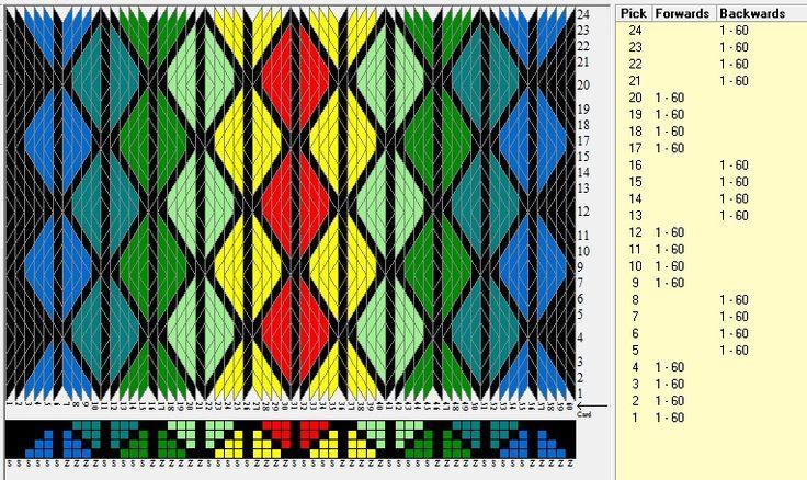 60 tarjetas, 7 colores, secuencia 4F-4B// sed_1007 diseñado en GTT ༺❁