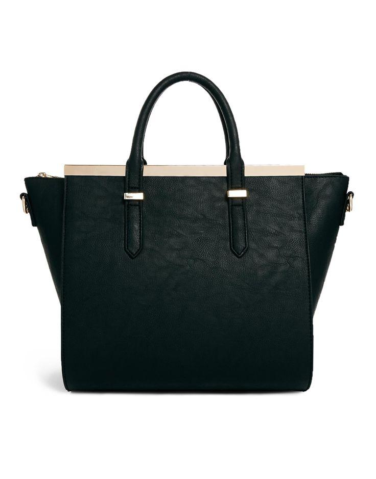 ASOS Handheld Bag with Metal Bar and Winged Detail