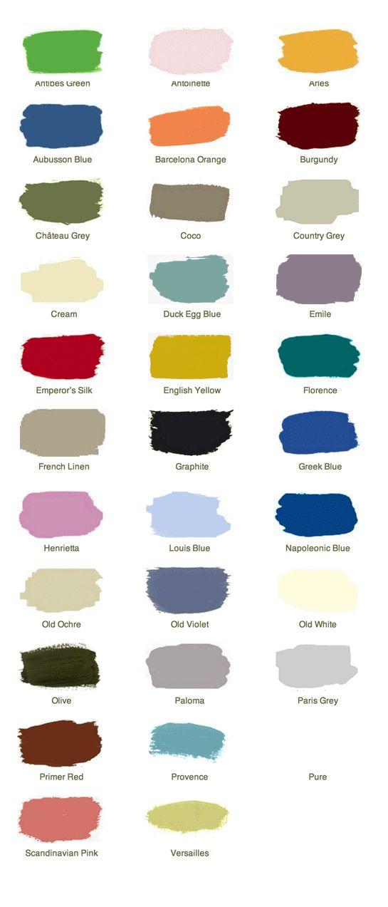 Anne Sloan Chalk Paint Color Ideas