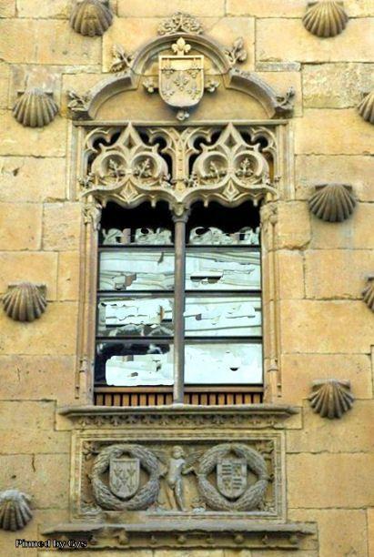 Window on Casa de las Conchas (House of Shells), Salamanca, Spain