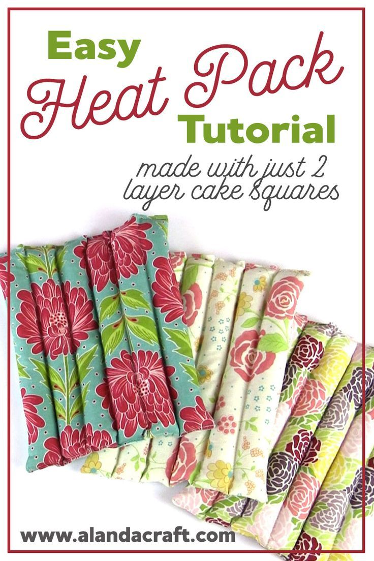 Heat Pack Tutorial: A nice quick sewing project that makes a great gift. Step-by-step instructions.
