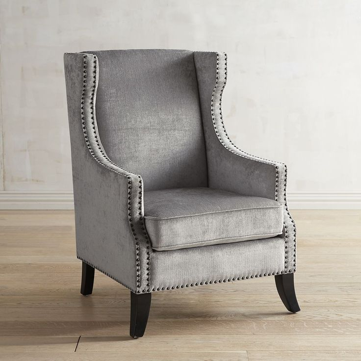 Alec Silver Velvet Chair with Nailhead Trim Pier 1 Imports  1000 ideas  about Velvet Chairs. Lease To Own Accent Chairs Philadelphia