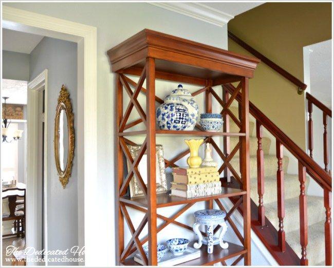 Foyer Update featuring Ballard Designs' Bourdonnais Bookcase - 203 Best Entryway Images On Pinterest Entryway, Ballard Designs