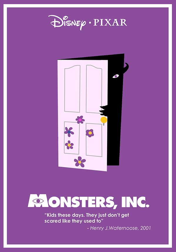 Monsters, Inc (2001) ~ Minimal Movie Poster by Ben Xue #amusementphile