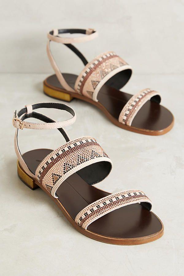 Slide View: 1: Lola Cruz Beaded Sandals