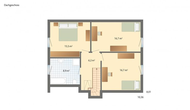 Danhaus 1Liter-Haus! Stockholm Grundriss Dachgeschoss