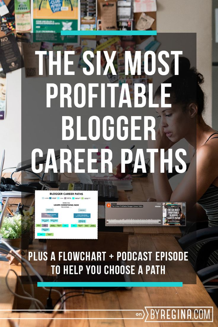 If you want to know the types of blogger career paths that are available to you and how you can monetize something you're passionate about, this post is for you. There is even a flowchart and podcast episode to help.