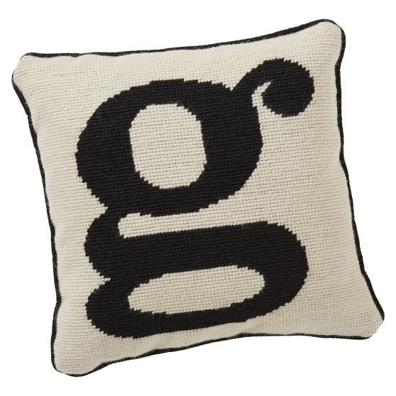 Alphabet Needlepoint Pillow | PBteen