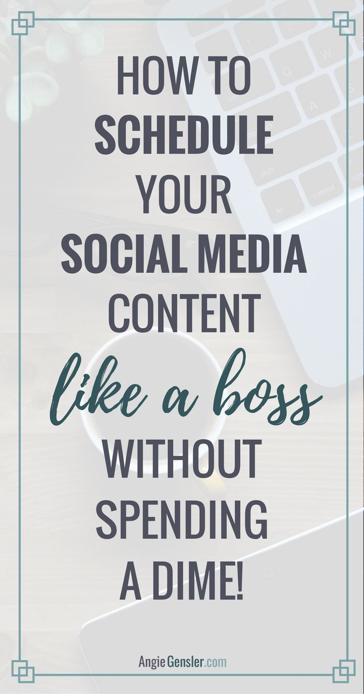 How to schedule your social media content like a boss without spending a dime. 4 step-by-step video tutorials on how to use free tools to schedule posts.