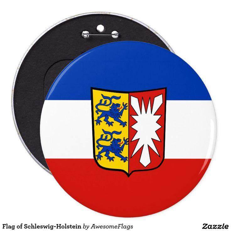 Flag of Schleswig-Holstein 6 Cm Round Badge