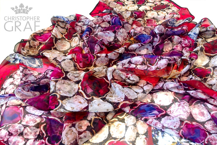 'WONDERFUCKER'  Limited edition silk chiffon scarf.  Designed by CHRISTOPHER GRAF.  www.christophergraf.com.au
