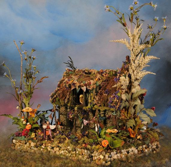 Moon Under Water   An Enchanting  Pixie Tavern Fantasy Dollhouse  in Half Scale For Commission