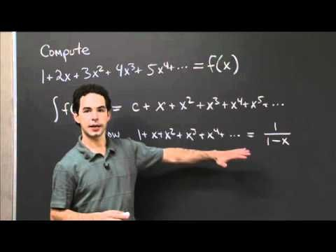 Integration of Taylor's Series | MIT 18.01SC Single Variable Calculus, Fall 2010
