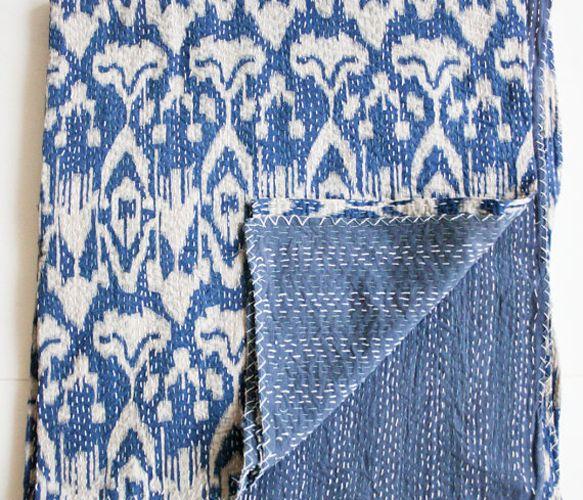 Blue Ikat Quilt