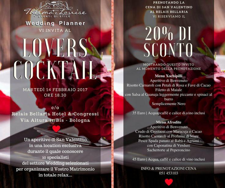 Per San Vaentino ti aspettiamo al Relais Bellaria di Bologna per il Lovers Cocktail! // Wedding Ideas //