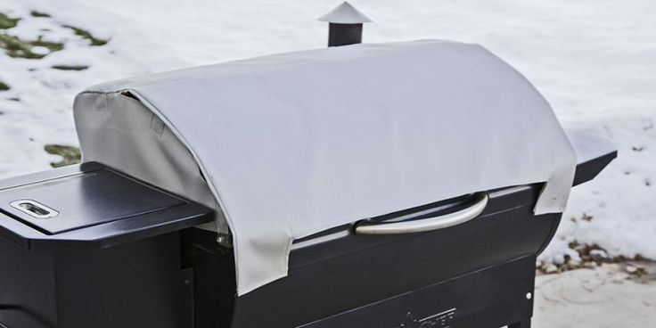 Pellet Grill Blanket on a SmokePro Pellet Grill in the Snow