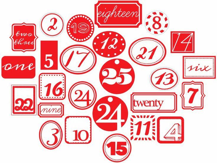 Inspire me… advent calendar and free printables