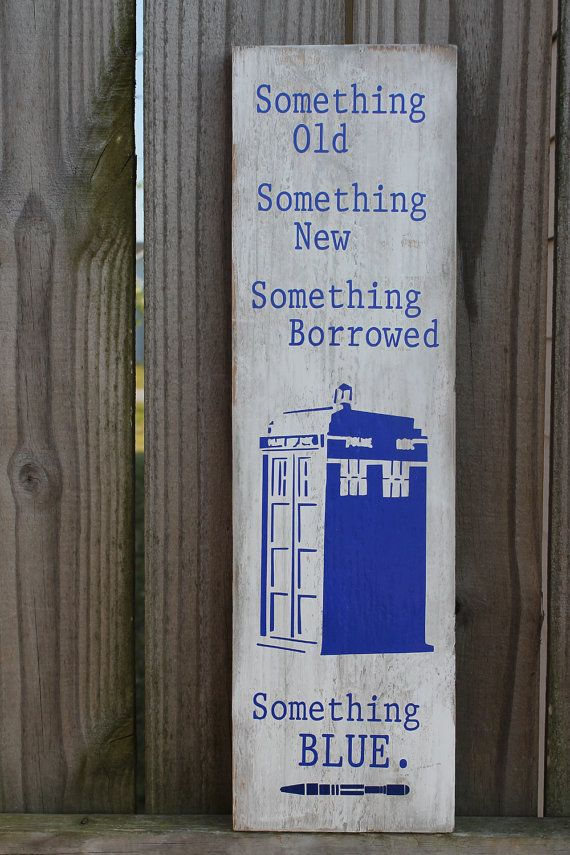 Doctor Dr Who Something Old NEW Borrowed BLUE!  Perfect for a Whovian Wedding!  Geek Love!