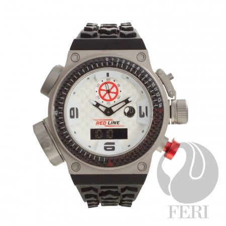 FERI Red Line - Nitro Watch - White / Silver - 3 Swiss movements - 6 compounds construction including Titanium case - Genuine carbon fibre on the Basel and throughout the face - Silicon strap with square buckle - 10 ATM of water resistance - Light and comfortable - A genuine sports watch with multi functions - 3 year limited manufacturer warranty - Hypoallergenic  Invest with confidence in FERI Designer Lines.   www.gwtcorp.com/ghem or email fashionforghem.com for big discount