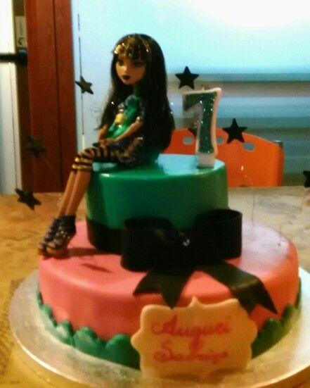 Monster High cake. Torta per il settimo compleanno di Sabrina.