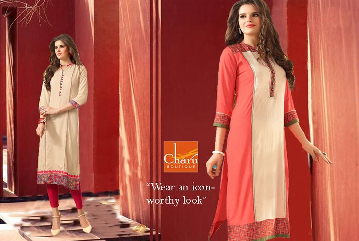 #Wear an icon-worthy #look! Find on #trends #newcollection of #ethnic #Kurtis @ #CharuBoutique #store #Nagpur #IndianEthnicwear #wintercollection #ethnicwear #onlineshopping