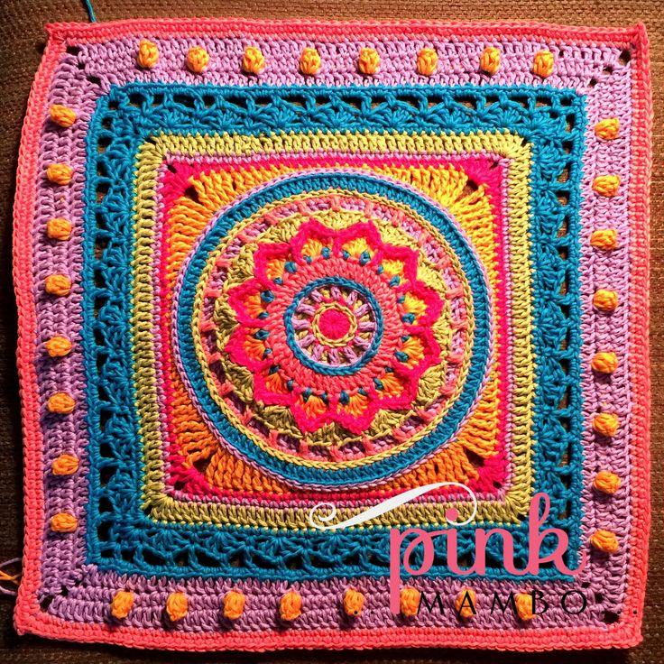 Dream Circle - free crochet pattern for this mandala granny square