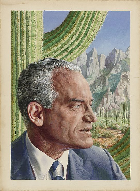 Barry Goldwater by Boris Chaliapin.