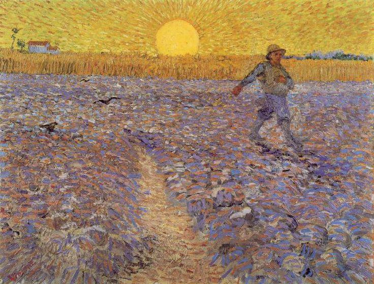 Van Gogh - Le semeur au soleil couchant, 1888