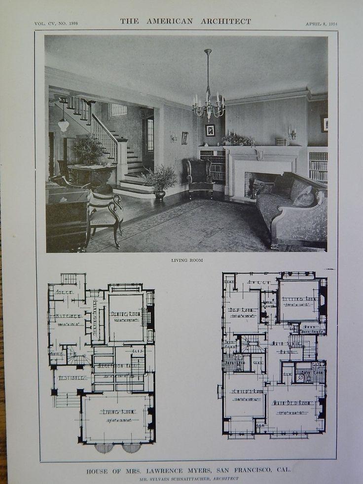 1181 best floor plans images on pinterest floor plans crossword house of mrs lawrence myers san francisco ca 1914 lithograph schnaittacher house blueprintsmodern malvernweather Images