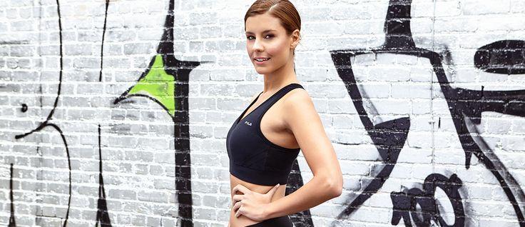 How TV star Lauren Phillips beats exercise boredom Fila