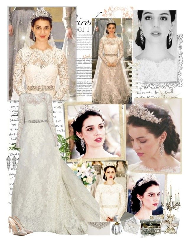 Mary Stuart Wedding Style By Mery90 Liked On Polyvore Featuring Monique Lhuillier Gianvito