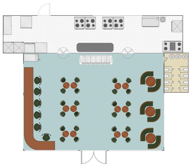 48 best building plans cafe and restaurant plans images for Restaurant builder software