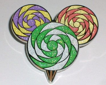 Mickey Mouse icon lollipop pin