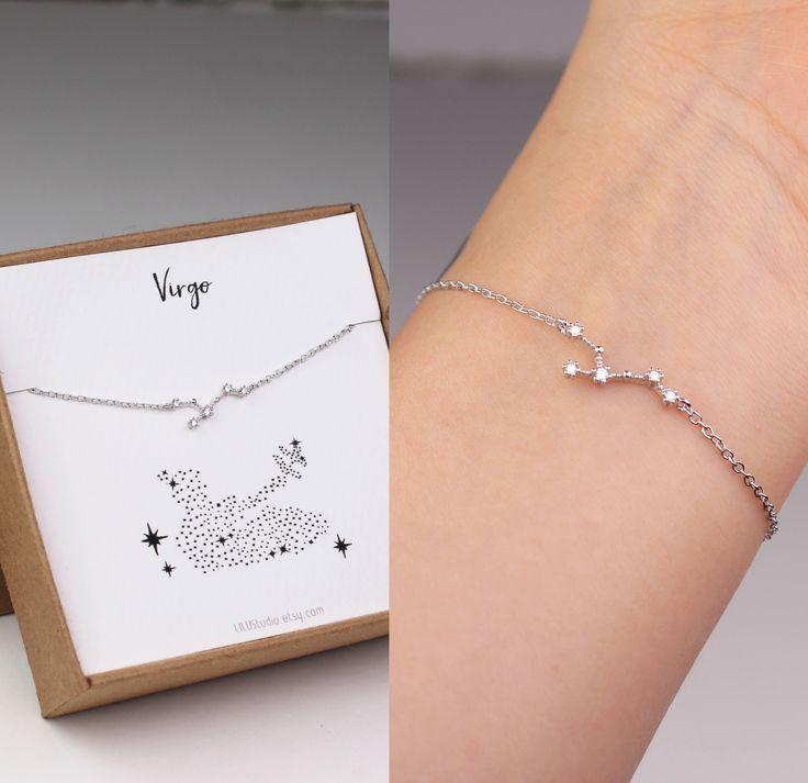 constellation bracelet, horoscope bracelet, virgo jewelry, Virgo bracelet, best friend gift, horoscope jewelry, sister birthday gift, gold by LILUstudio on Etsy https://www.etsy.com/listing/546342047/constellation-bracelet-horoscope