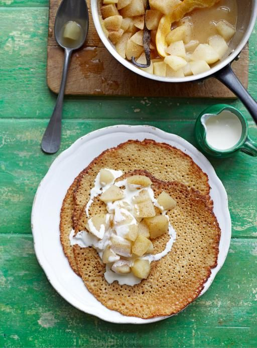 buckwheat crepes with poached apple & pear | Jamie Oliver | Food | Jamie Oliver (UK)