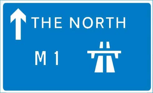 Image result for m1 motorway signs