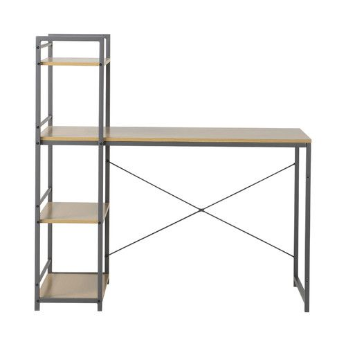 Found it at Joss & Main - Computer Desk with Built-In 4 Shelf Bookcase