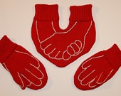Funny Dual  Gloves for HIM and HER with Decorations Valentine's day present hahaha yeah right!