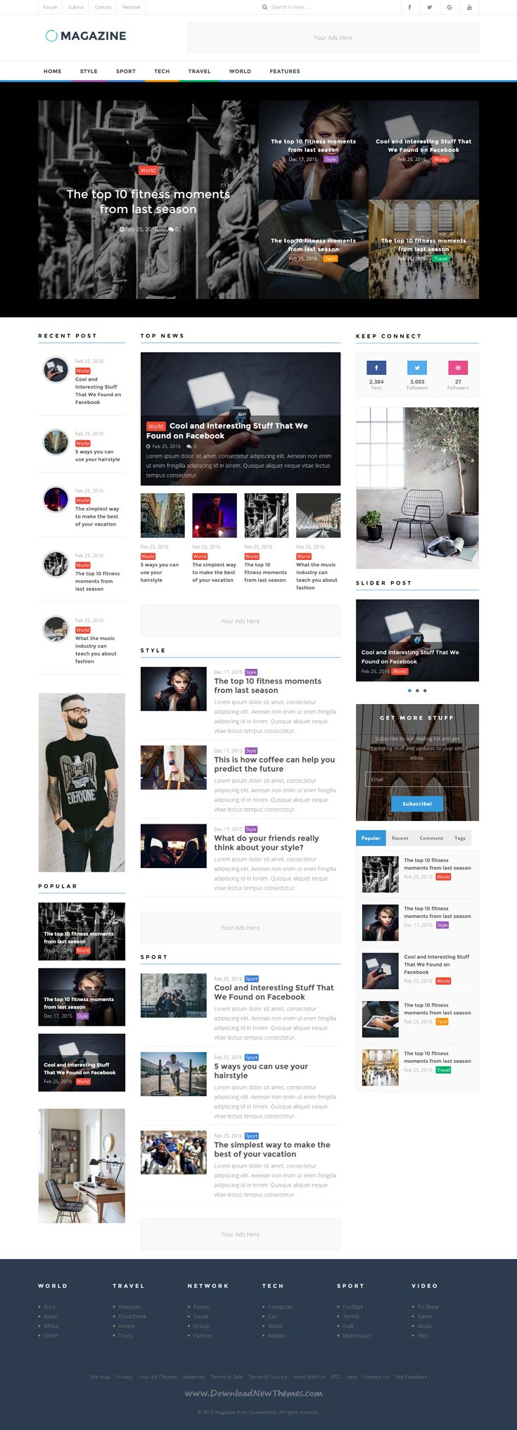 ST Magazine WordPress theme is suitable for creating a website for news or magazines. It comes in 4 stunning homepage layouts.