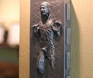 Han Solo Frozen Light Switch Cover . Complete your Star Wars themed room with this Han Solo frozen in carbonite light switch cover. Though his b...