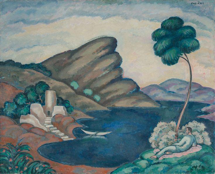 EUGENIUSZ ZAK (1884 - 1926)  STARY ZAMEK II   olej, płótno / 65 x 81 cm  sygn. p.g.: Eug. Zak