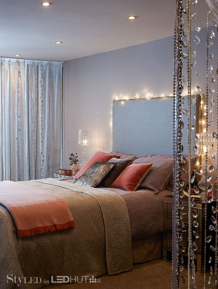 Bedroom lighting is best kept simple. Choose a mix of warm white shades and dimmable LEDS for a relaxed, versatile look #StyLEDlighting