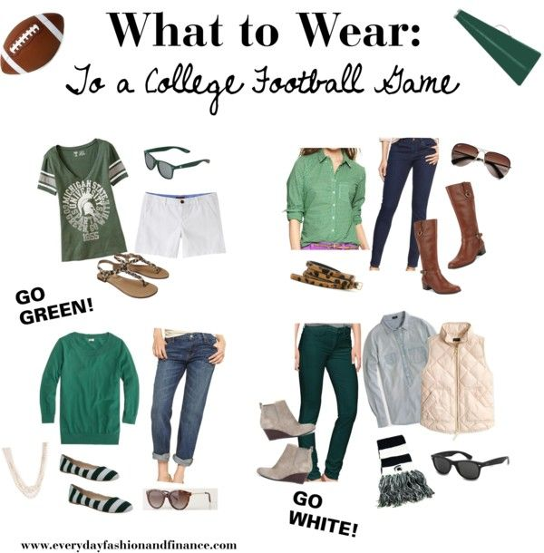 What to Wear: To a College Football Game