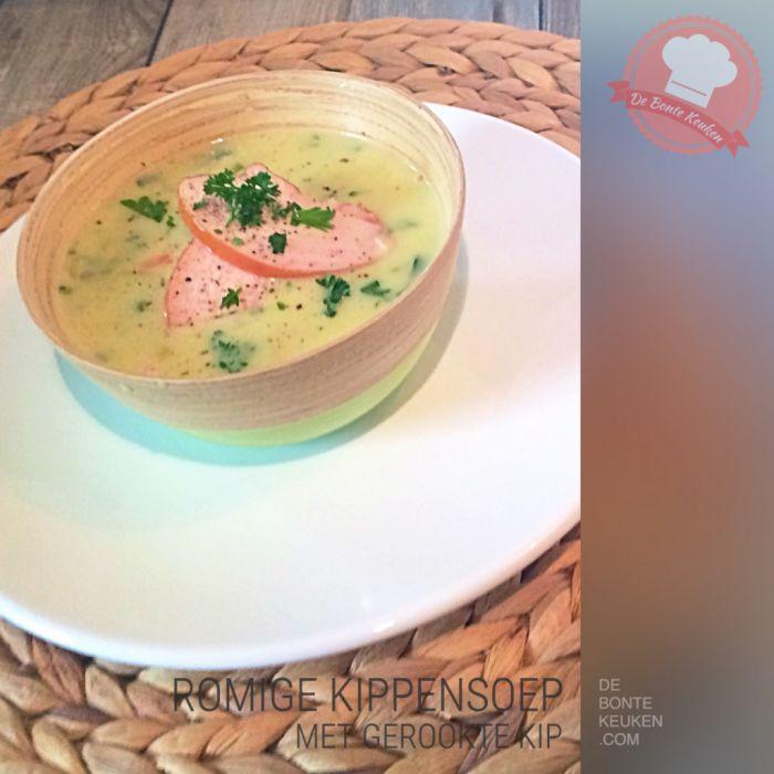DeBonteKeuken: Romige kippensoep. De snelle en simpele variant!!  (kippenbouillon, kipfilet, soepgroente, boter, bloem, slagroom, kookroom, makkelijk, soep, simpel, recept, homemade)