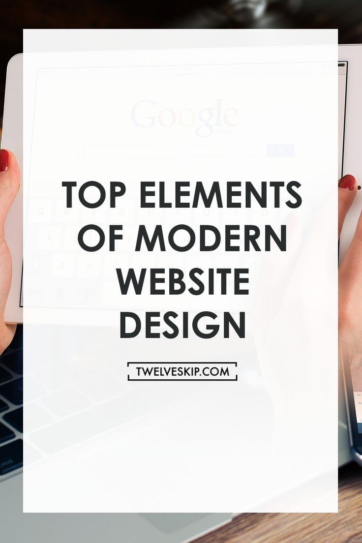 Top Elements of Modern Web Design