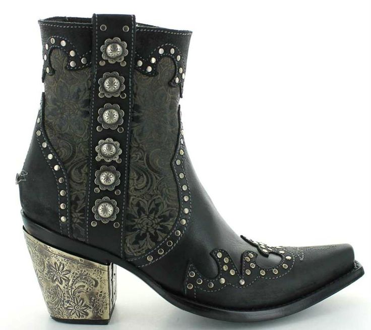 Double D by Old Gringo San Antonio Rose DDBL010-1 Studs and Heel Image