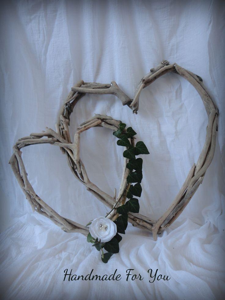 driftwood hearts. Καρδιές απο θαλασσόξυλα.