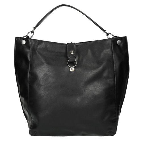 Borsetta nera in stile Hobo bata, nero, 961-6808 - 19