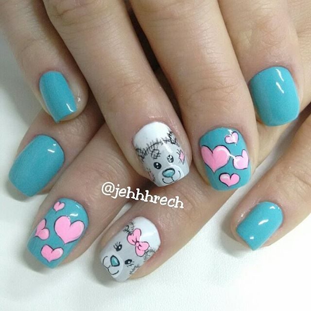 """#unhas #unhasdecoradas  #ursinhos  #love #naoeadesivo  #nail #nails #nails2inspire #jehrech #instaunhasdeprincesa  #esmaltesecores"" Photo taken by @jehhhrech on Instagram, pinned via the InstaPin iOS App! http://www.instapinapp.com (08/06/2015)"