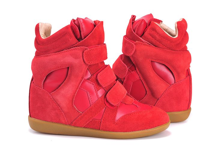 Isabel Marant Wedge Sneakers High Top Suede Leather Red $299.00 http://www.marantoutlet.com/cheap-isabel-marant-wedge-sneakers-high-top-suede-leather-red_17.html